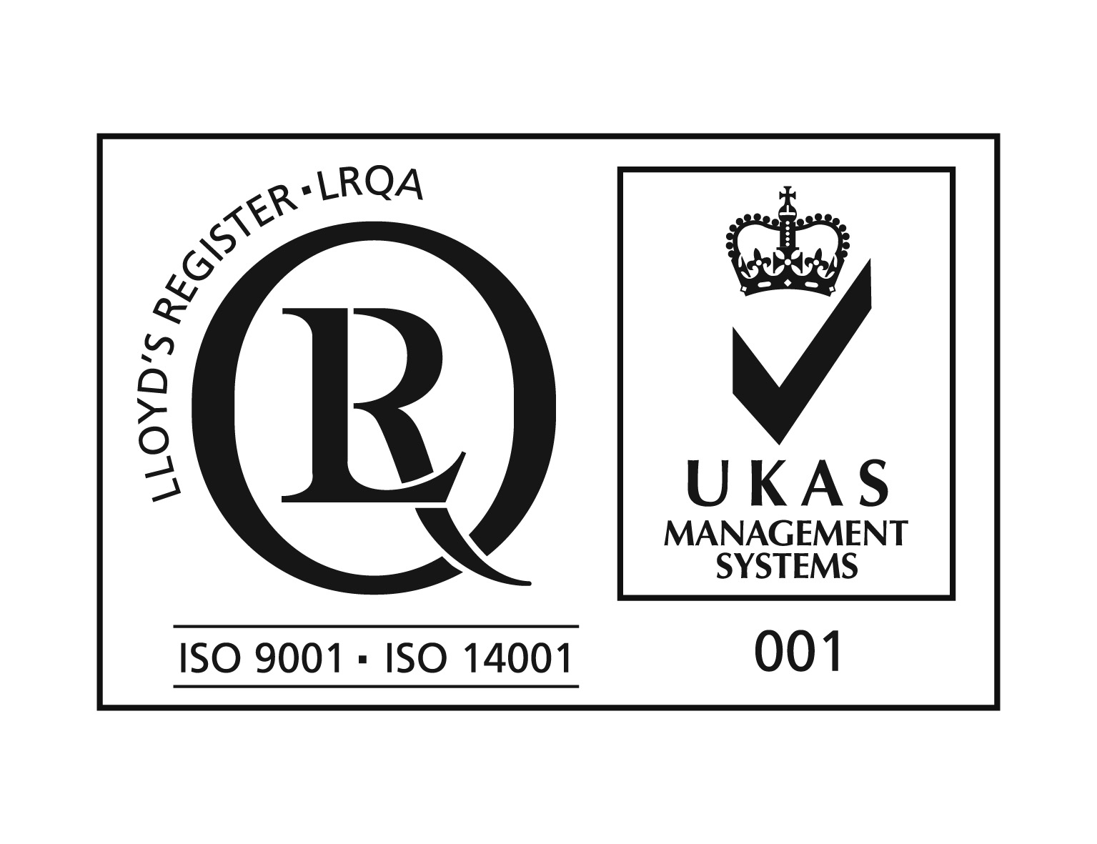 ISO9001 ISO14001 with UKAS
